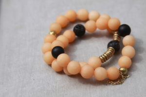 orange jade bracelet set