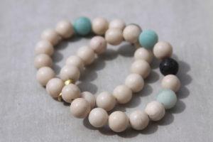 fossil gemstone bracelet set