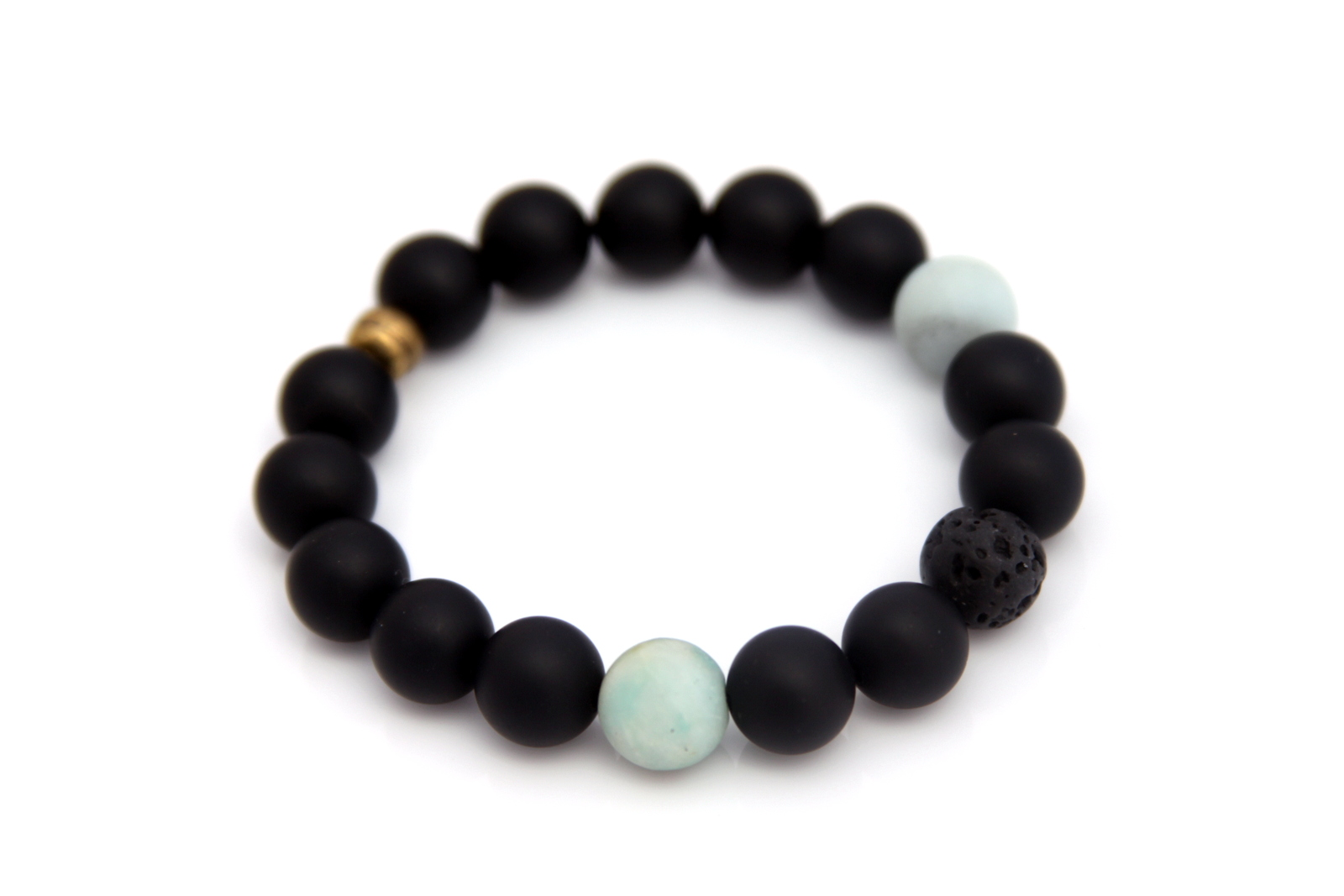 Matte black bead bracelet best bracelet 2018 for Reinforcements stainless steel jewelry