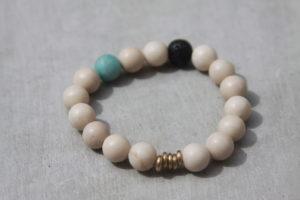 neutral color beaded bracelet