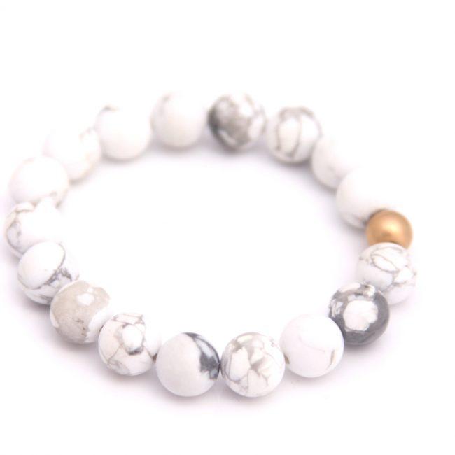 white gemstone bracelet