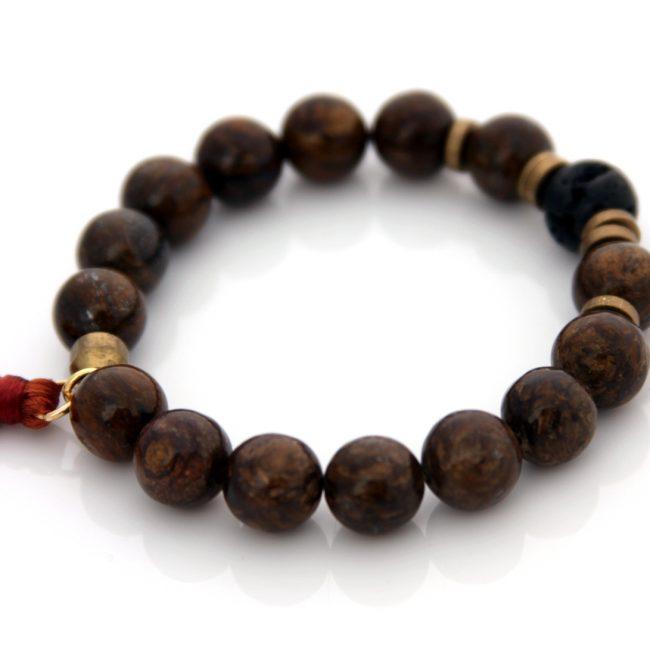 bronzite gemstone bracelet