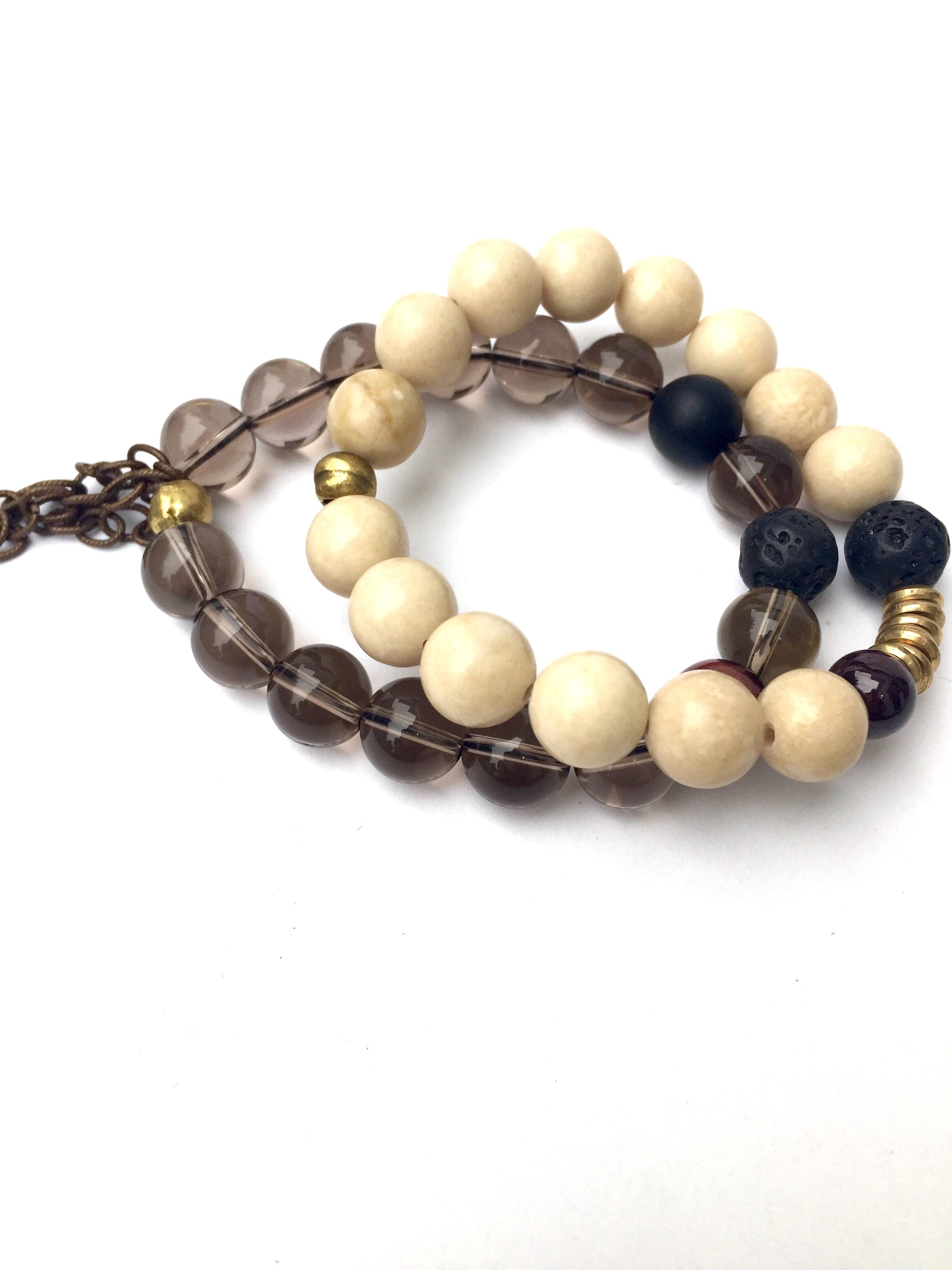Smoky Quartz Bracelet Set Reija Eden Jewelry