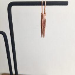 rose gold spike earrings