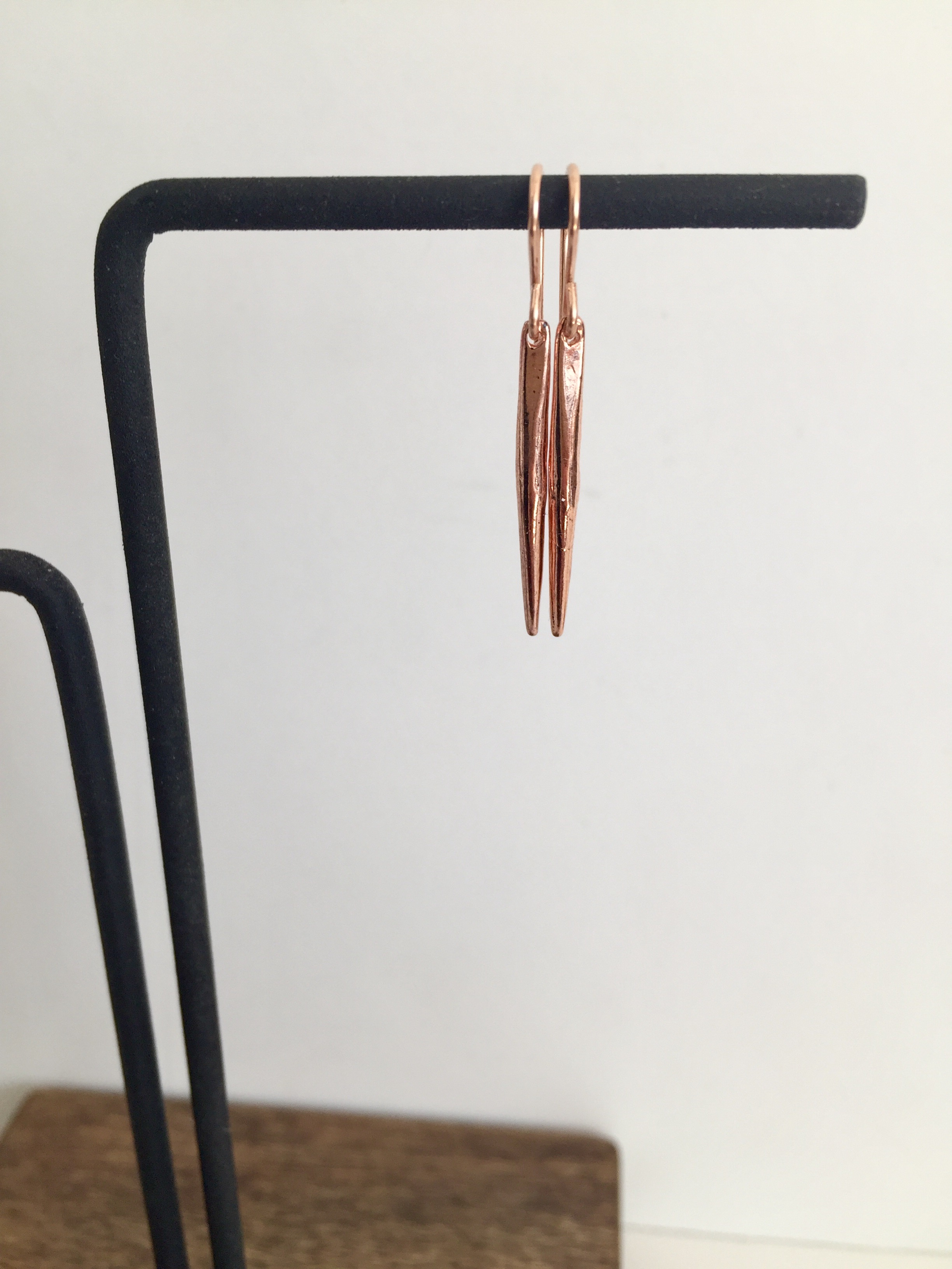 Rose Gold Spike Earrings