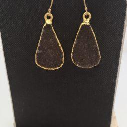 druzy earrings - gold