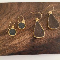 handmade druzy earrings