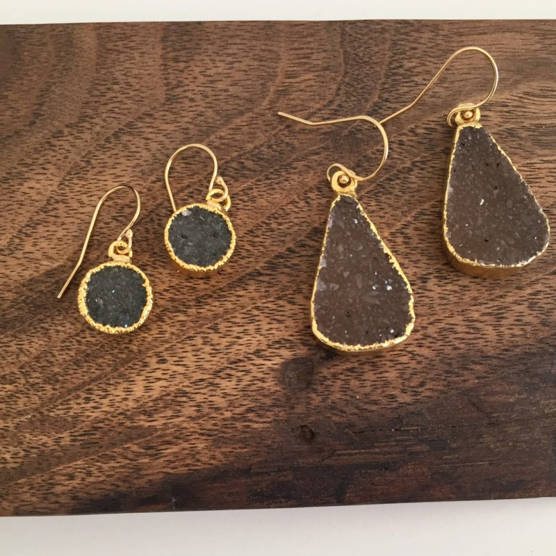 handmade druzy earrings