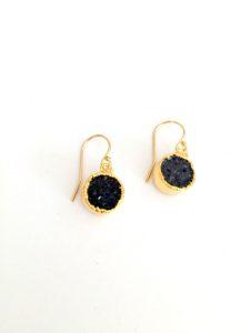 tiny druzy earrings
