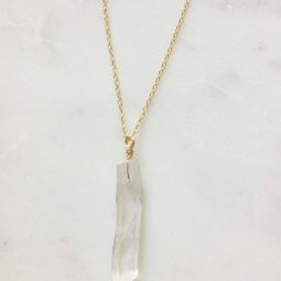 crystal necklace - handmade
