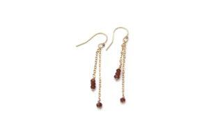 garnet gold earrings