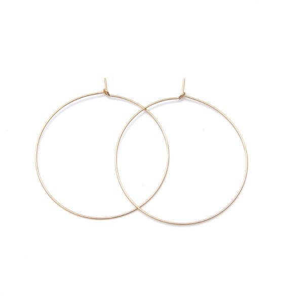 simple gold hoop earrings