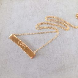 custom gold bar necklace