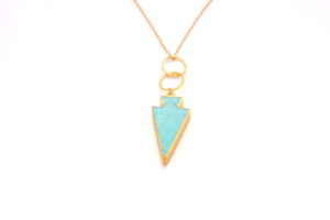 Gold Turquoise Necklace