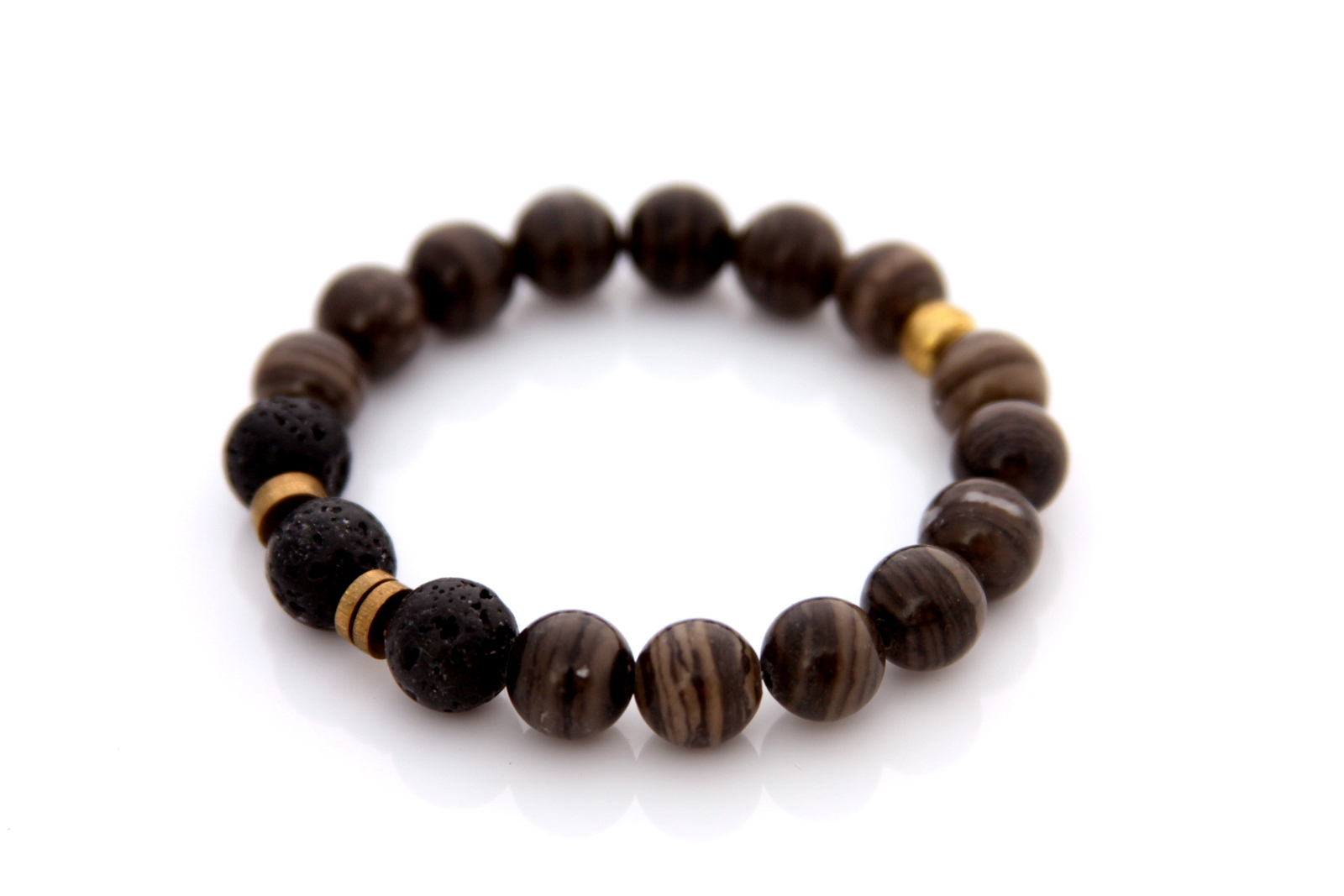 cappucino gemstone bracelet