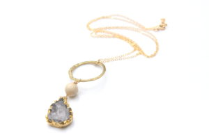 one of a kind druzy necklace