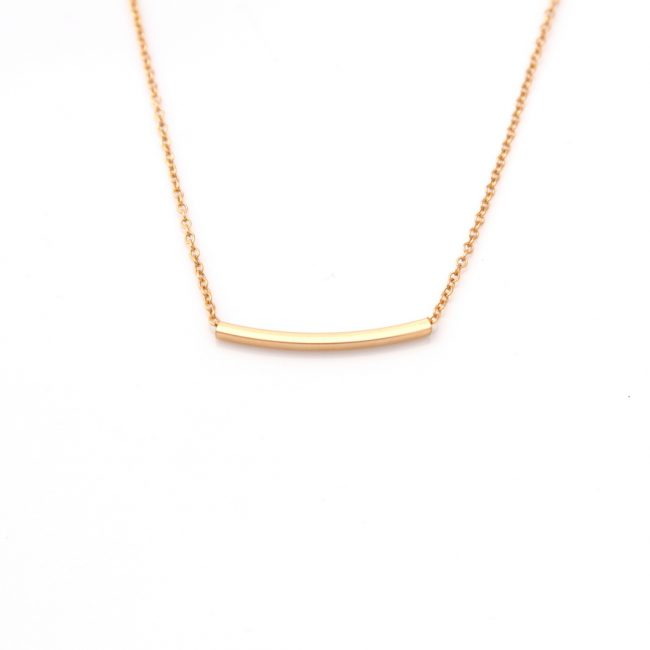 gold square bar necklace