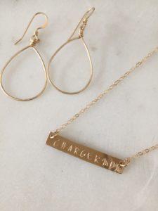 handmade gold jewelry set