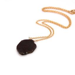 handmade raw garnet necklace