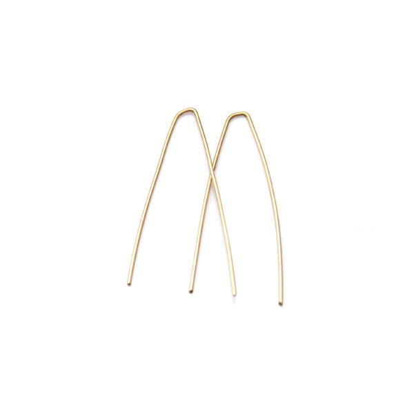 modern gold earrings - handmade