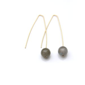 modern labradorite earrings