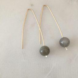 modern labradrorite earrings
