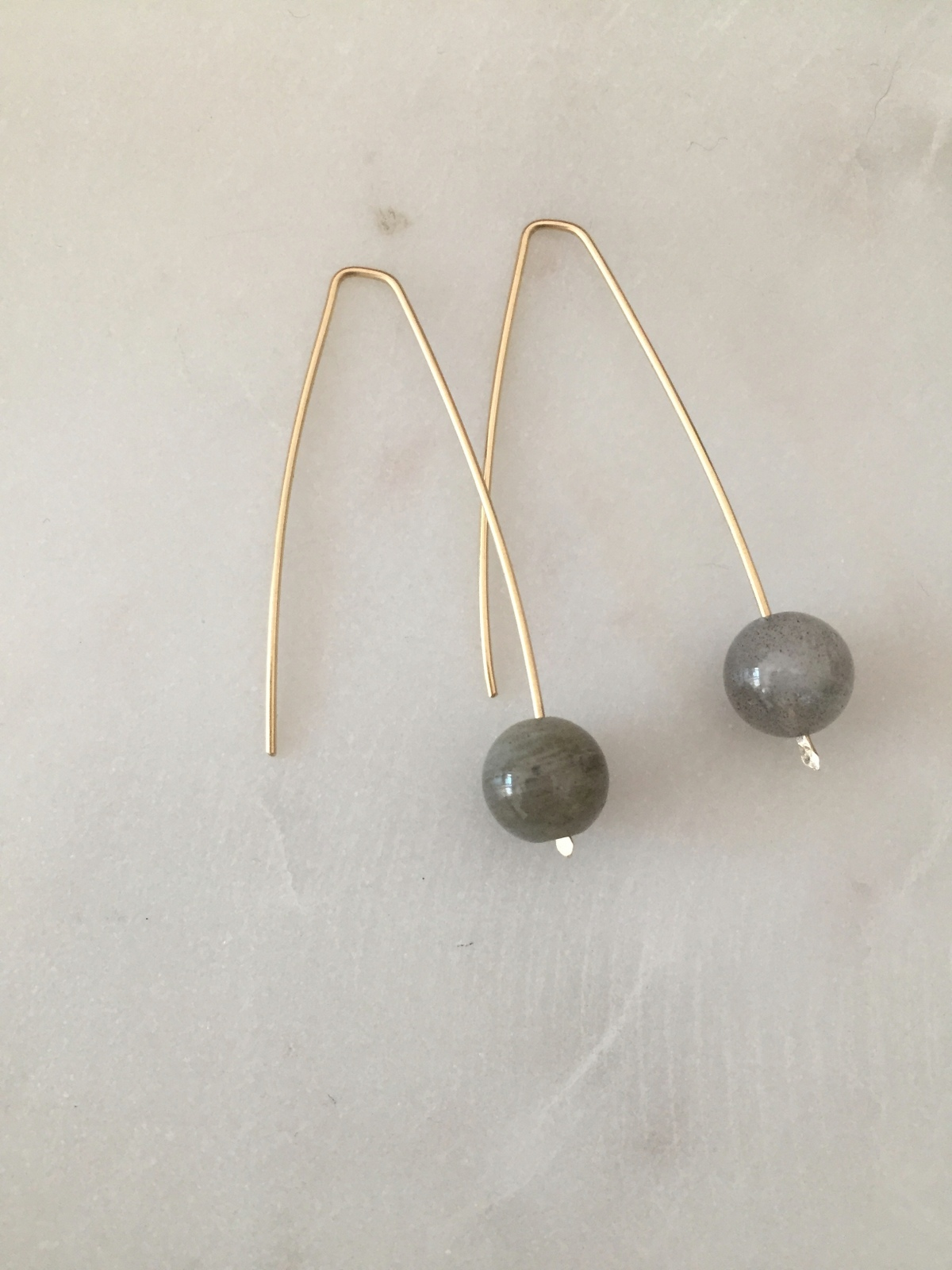 bobble stud product antiqued sandrakernsjewellery sandra side earrings kerns jewellery labradorite