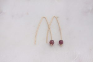 modern ruby earrings
