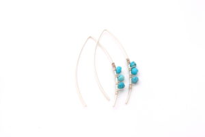 modern turquoise earrings