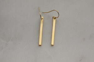 modern gold stick earrings