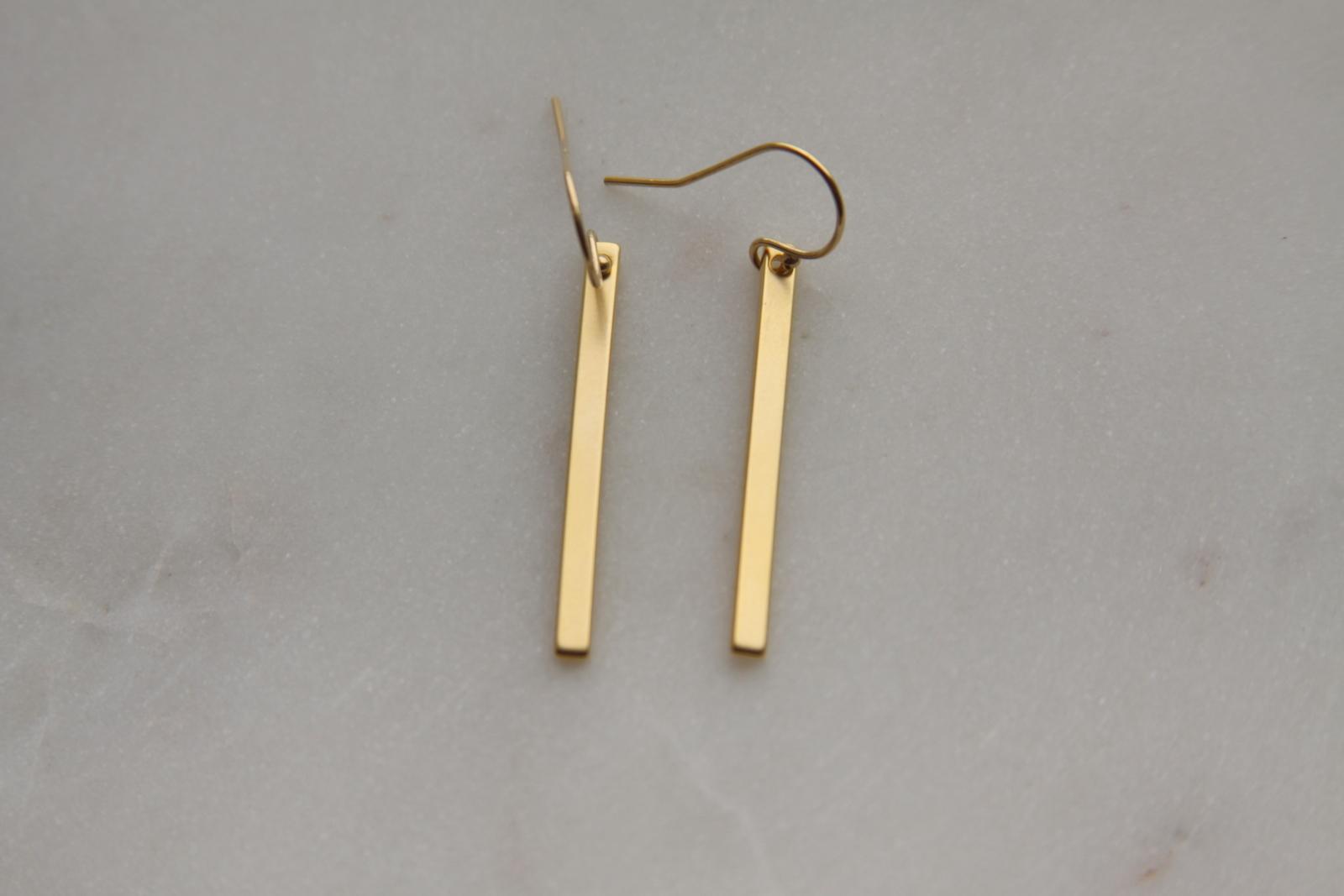 Gold Stick Earrings
