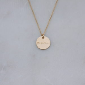 breathe necklace - gold