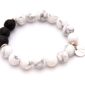 black and white essential oil bracelet