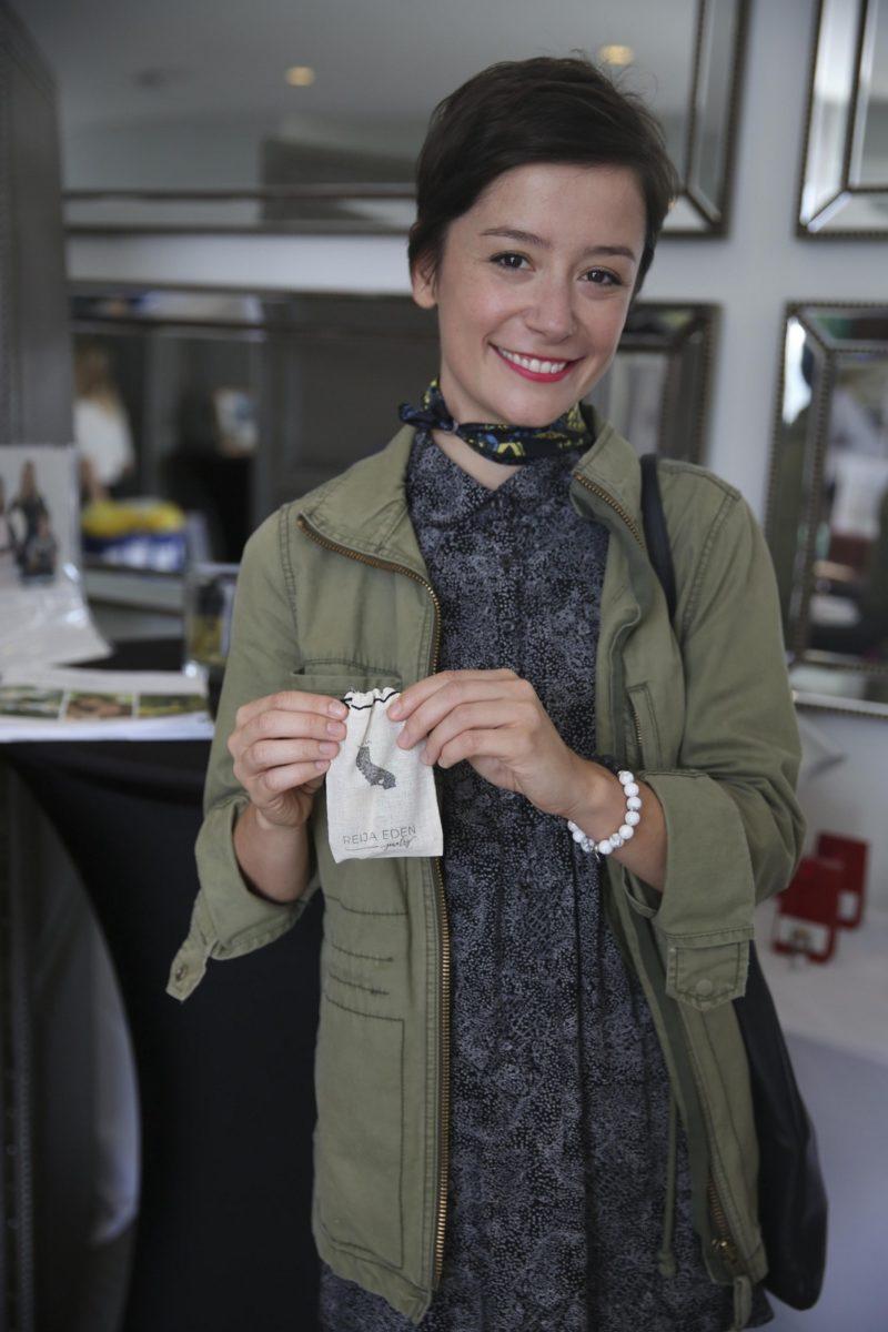 Actress Phoebe Neidhart wearing Reija Eden Jewelry bracelet