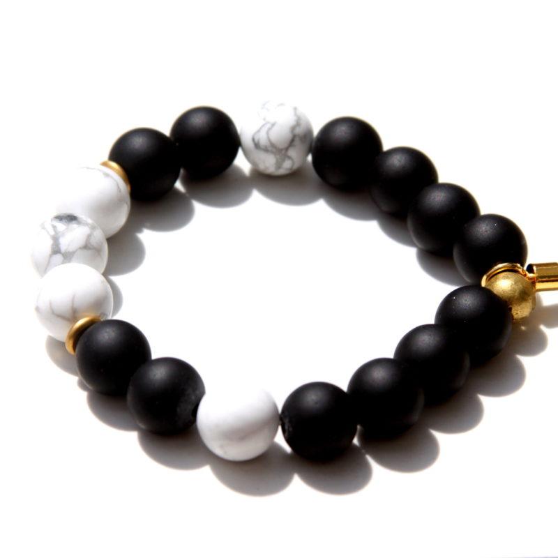 black and white gemstone bracelet