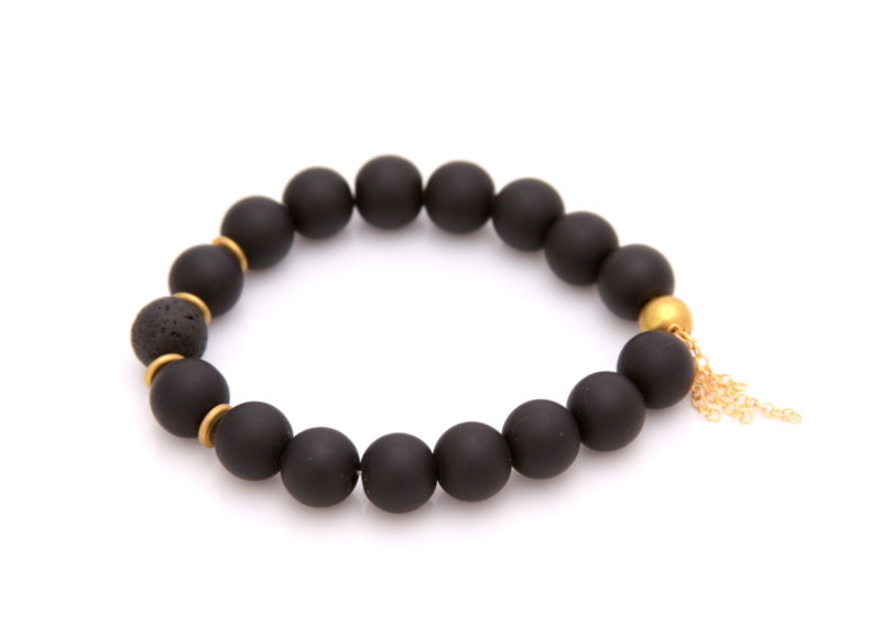 black onyx essential oil bracelet