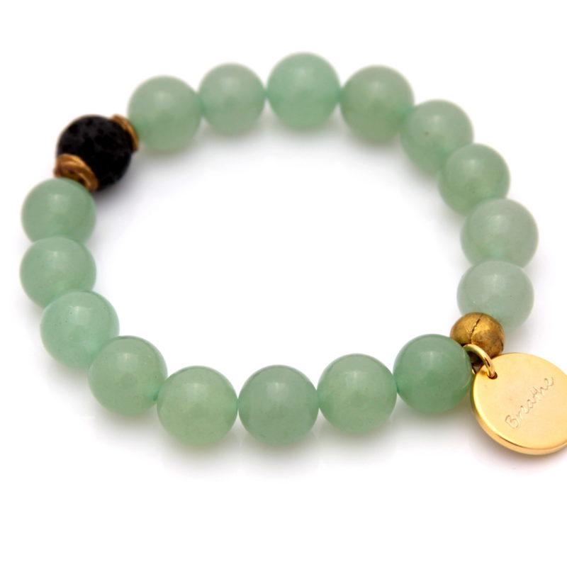 breathe bracelet - green aventurine
