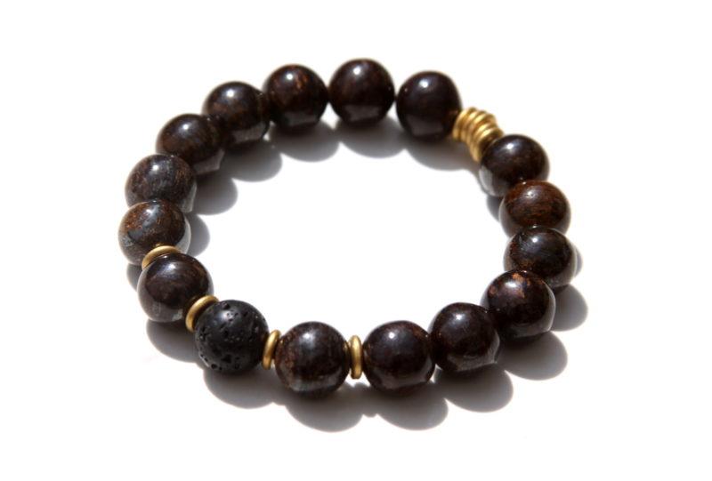 bronzite essential oil bracelet