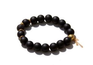 black onyx essential oil bracelet