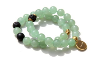 green aventurine bracelet set - good luck jewelry