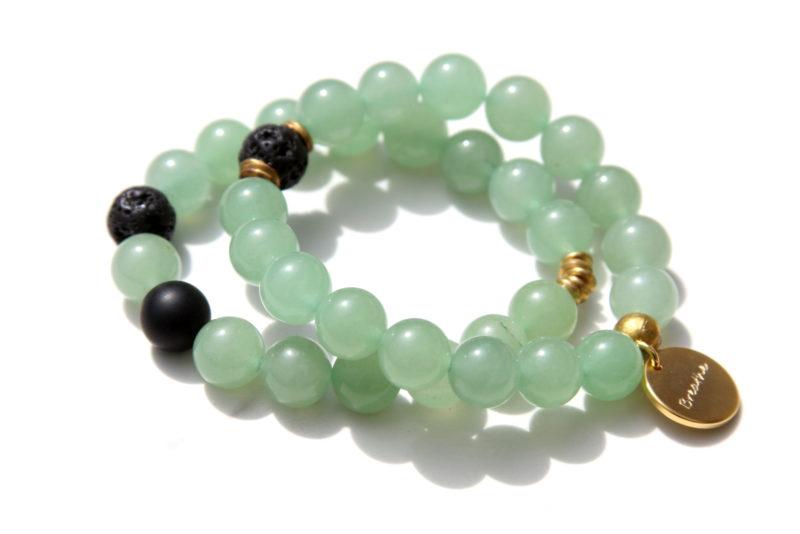 green aventurine bracelet set - good luck jewelry