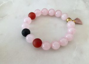 pink red bracelet - essential oil bracelet