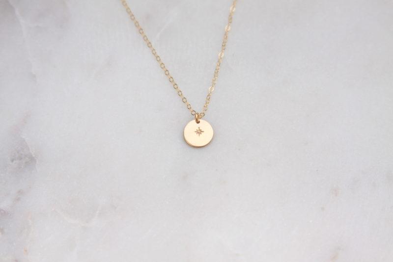 tiny shining star necklace - handmade